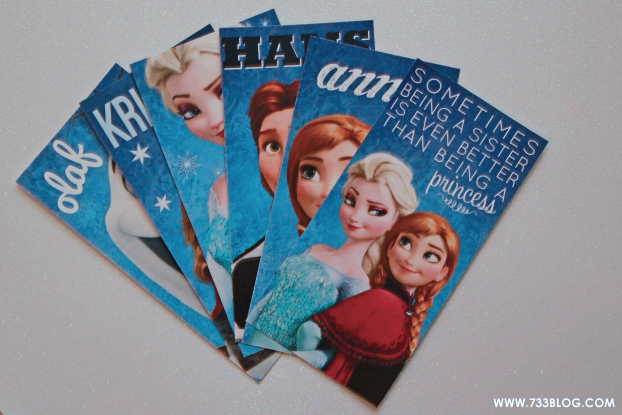 Download these FREE FROZEN Bookmarks from @733blog - they make great party favors. Plus check out a beautiful Anna-inspired Dress by Willow Bean Studio!