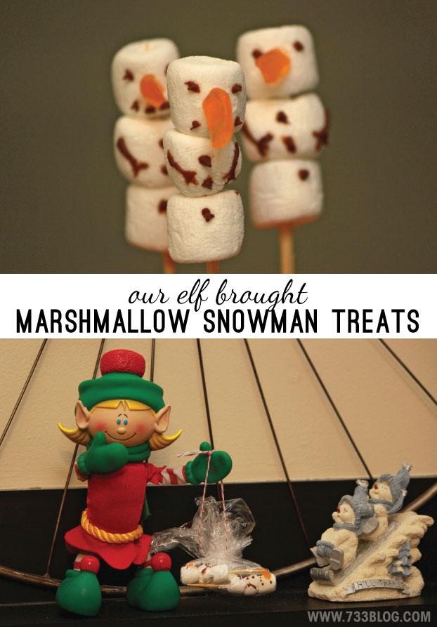 ELF ON THE SHELF IDEA: DIY Mini Marshmallow Snowman Treats Delivery