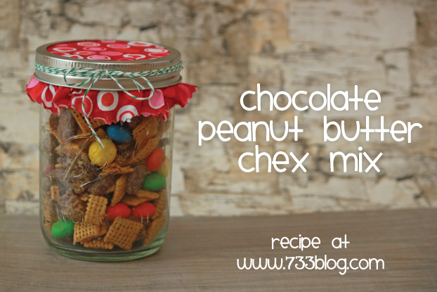 Chocolate Peanut Butter Chex Mix Holiday Recipe