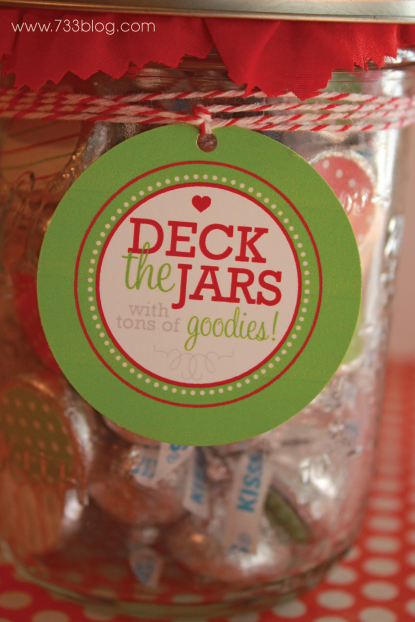 Kisses in a Jar with Free Printable.
