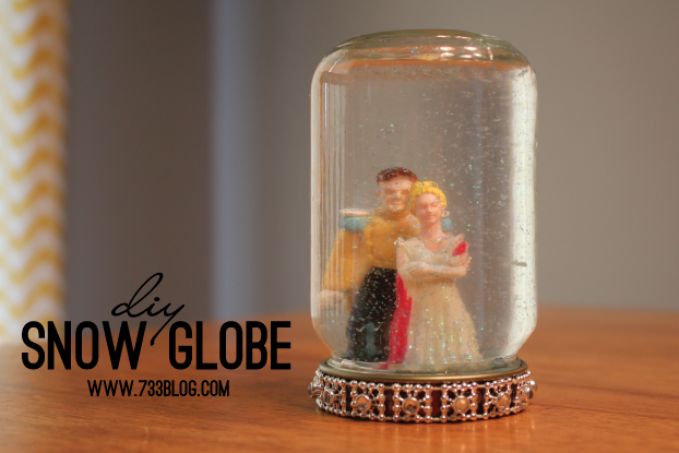 DIY Princess Snow Globe