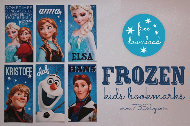 Disney Frozen Inspired Dress and Free Printable Bookmarks