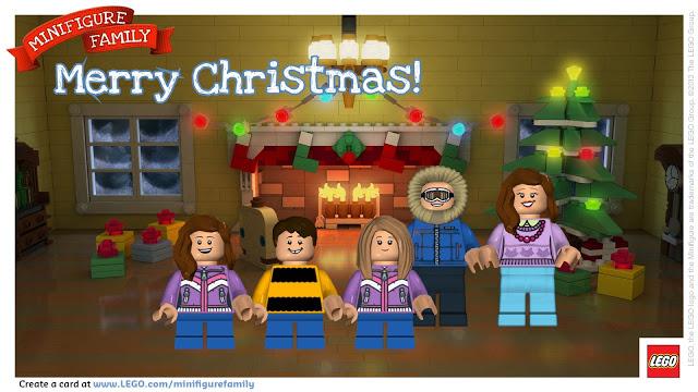 Make a LEGO Minifigure Holiday Card