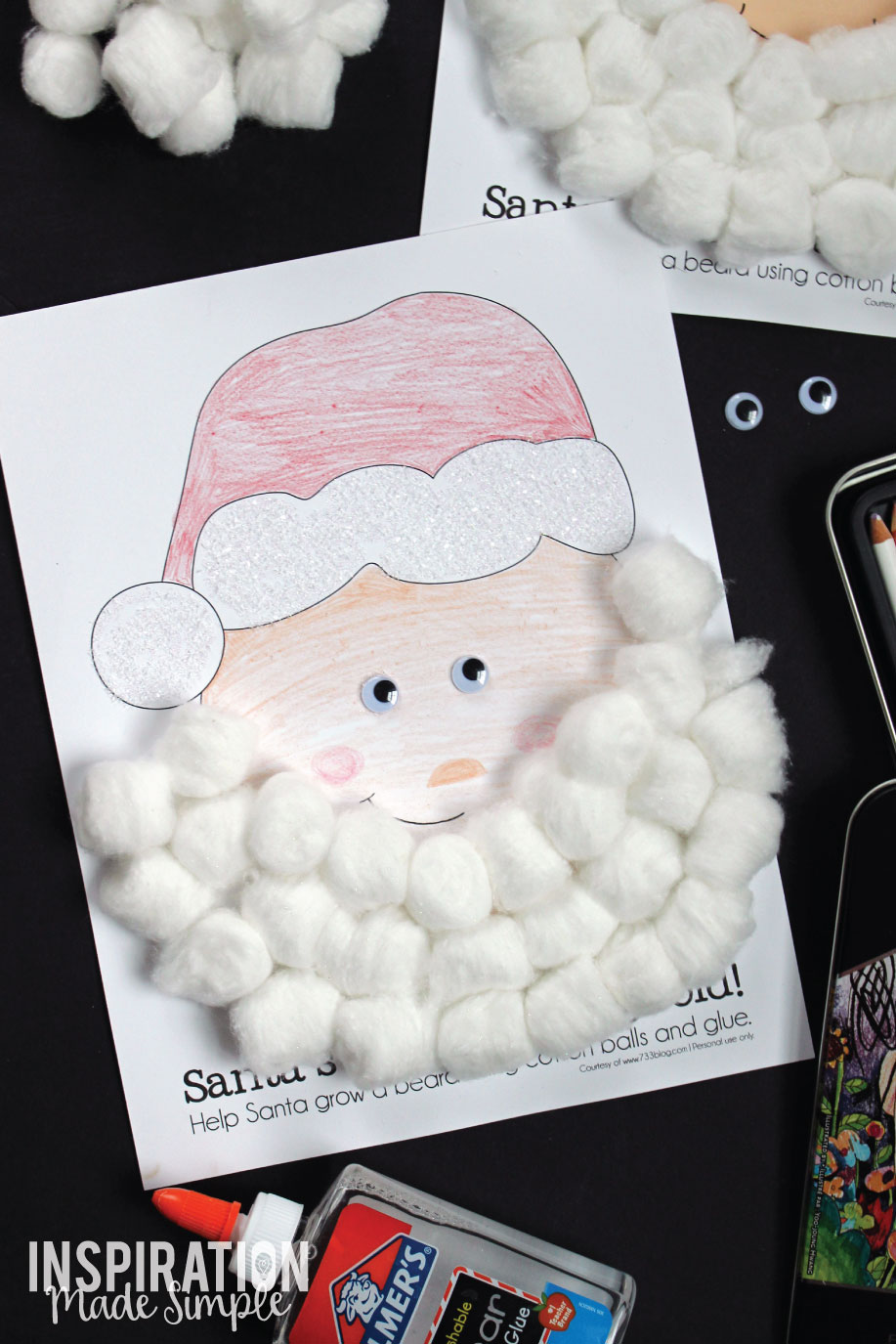 Christmas Kids Craft with Free Printables