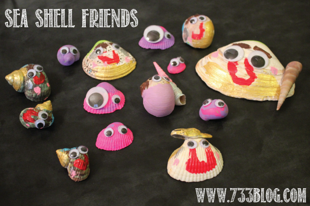 Painting Sea Shell Friends
