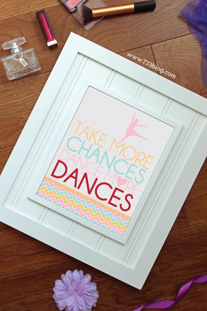 Take More Chances, Dance more dances Dance Teacher Gift Idea