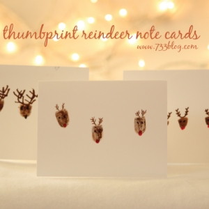 Thumbprint Reindeer Note Cards, Gift Tags & Ornaments