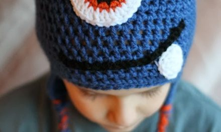 Crochet Monster Hat Pattern