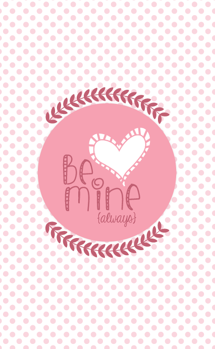 Valentine's Day Printable and iPhone Wallpaper