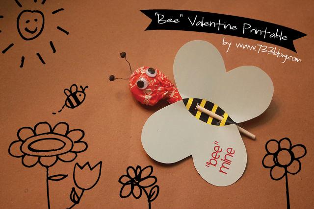 Free Printable Bee Valentine