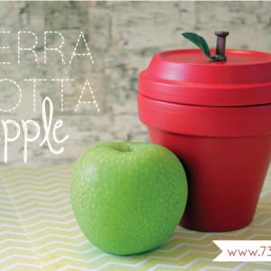 Terra Cotta Apple Tutorial - Great teacher gift idea!