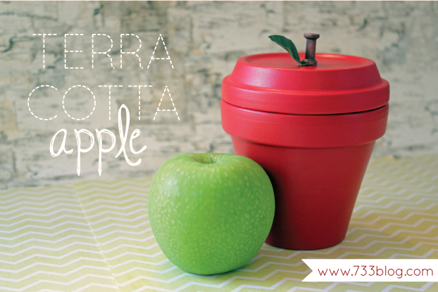 BACK TO SCHOOL: Terra Cotta Apple Tutorial