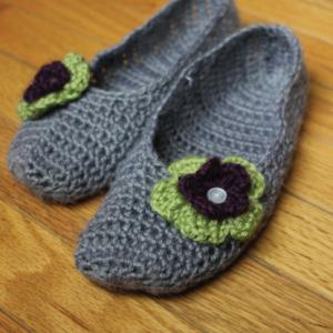 Ballet Flat Crochet Slippers #ProjectCrochet Update