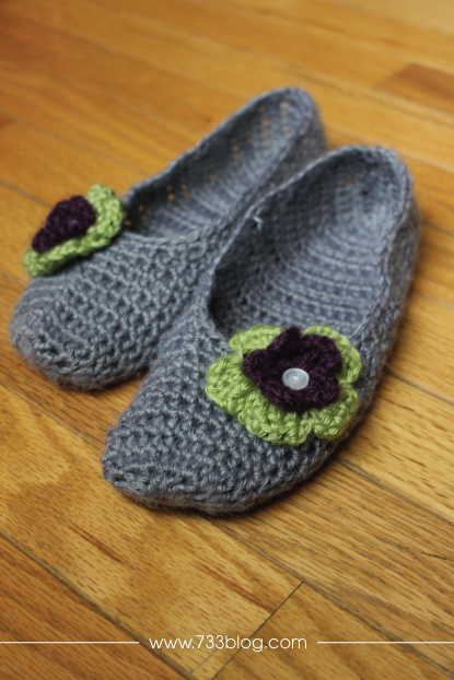 Ballet Flat Crochet Slippers #ProjectCrochet Update
