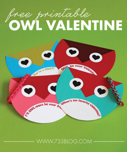 Owl Always Be Your Valentine – Free Owl Valentines