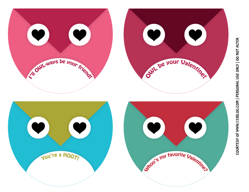 graphic relating to Owl Miss You Printable titled Owl Generally Be Your Valentine - Free of charge Owl Valentines