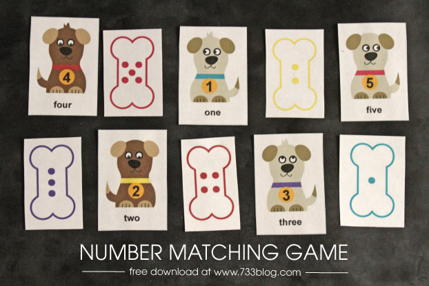 Preschool Number Matching Game