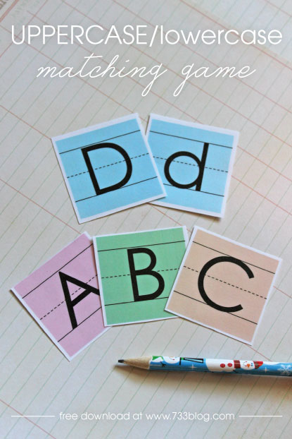 Uppercase/Lowercase Letter Matching Game