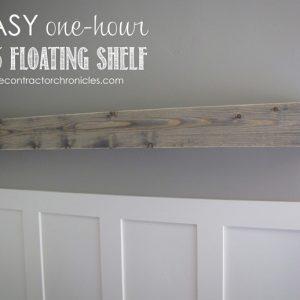 EASY One-Hour Floating Shelf