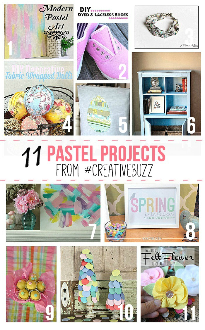 11 Pastel Projects from #CreativeBuzz