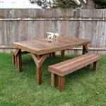 Build A Cedar Picnic Table (106) a