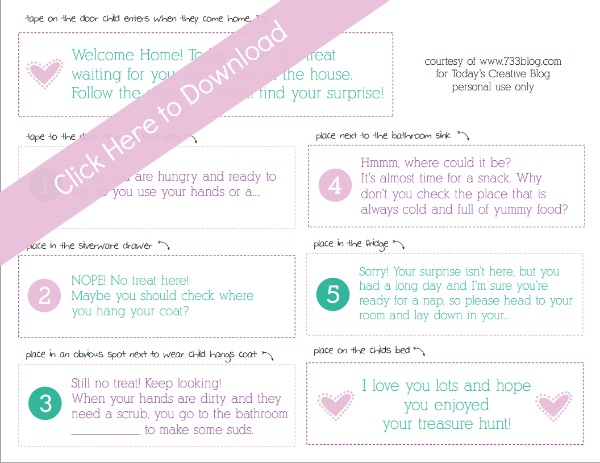 Treasure Hunt Printable