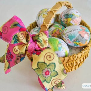 Decoupaged Easter Egg Craft