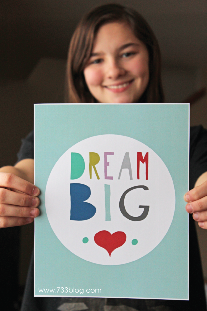 Dream Big Printable Wall Art