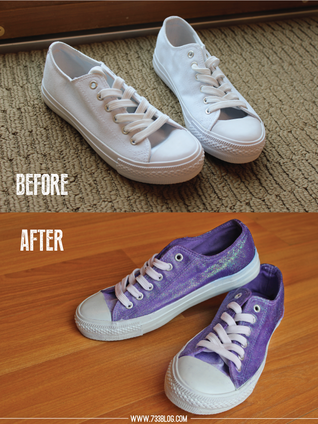 Diy Dip Dyed Glitter Shoes Inspiration Made Simple