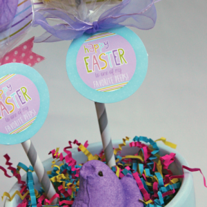 Peeps Pops and Easter Egg Favors with Free Printable Tags