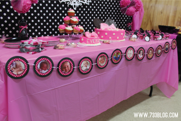 Minnie Mouse 1st Birthday Munazza Custom Photo Banner 6ft I Designed And Printed The Krista Put It Together