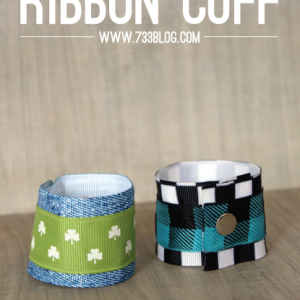No Sew Ribbon Wrist Cuffs