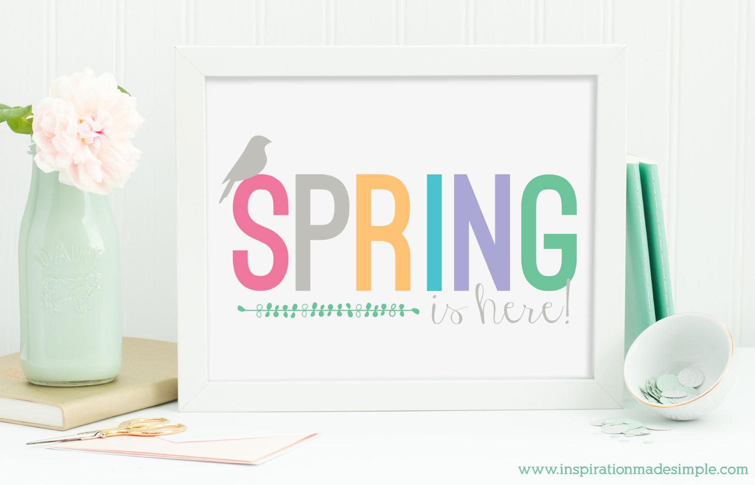 Free Printable Spring Print