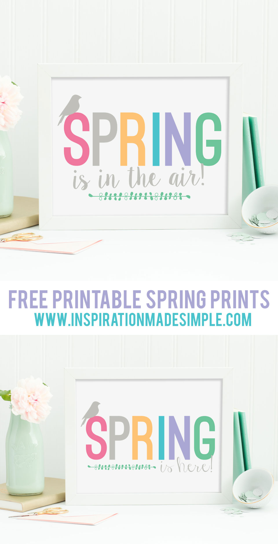 Free Printable Spring Print - two versions available!