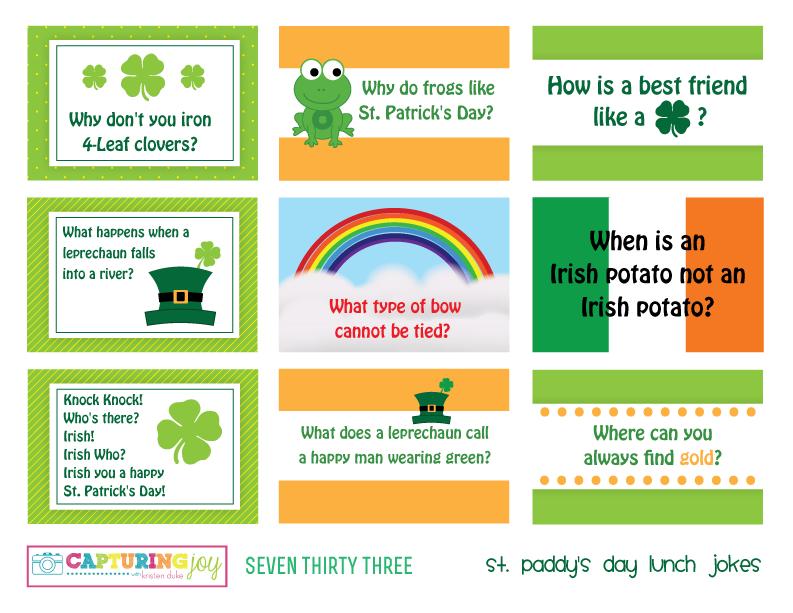 St Patricks Day Lunch Jokes