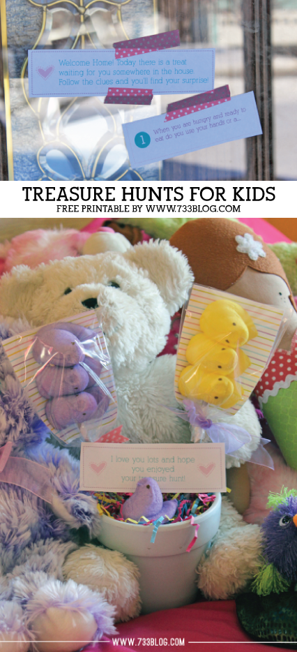 Surprise your kids one afternoon with a fun treasure hunt! Prize can be something small and simple, the hunt is the best part!