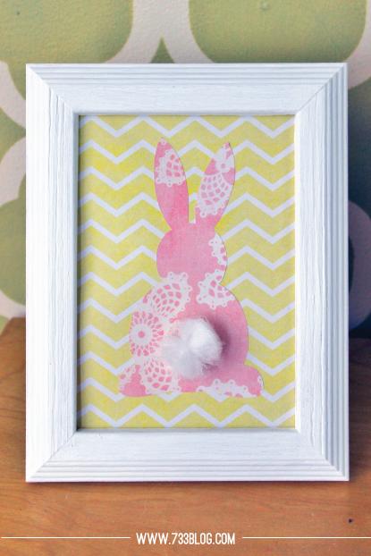 Tulle-Tail Bunny Art