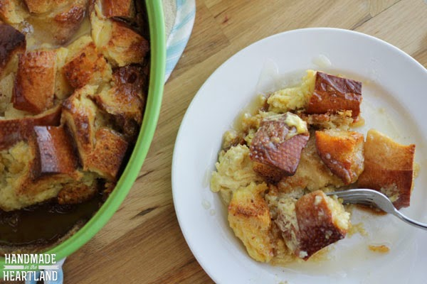Creme Caramel Bread Pudding with Bourbon Sauce Recipe
