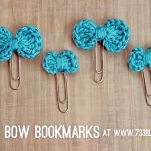 Tiny Crochet Bow Bookmarks