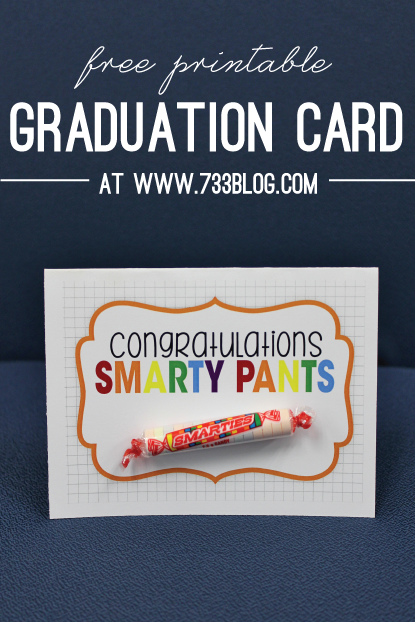 photo relating to Printable Grad Cards identified as Smarty Trousers Commencement Card - Drive Manufactured Straightforward