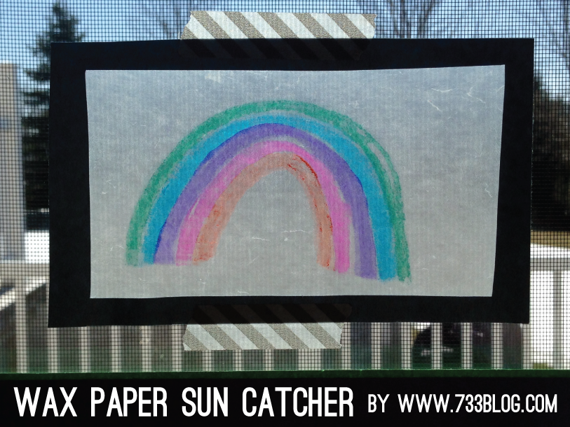 Wax Paper Sun Catcher