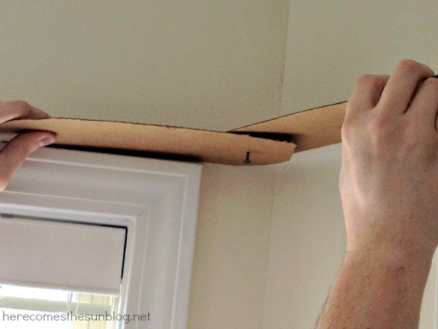Bay Curtain Rod Tutorial from herecomesthesunblog.net
