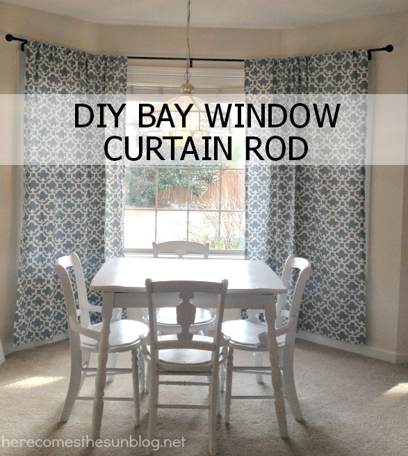 DIY Bay Window Curtain Rod Tutorial