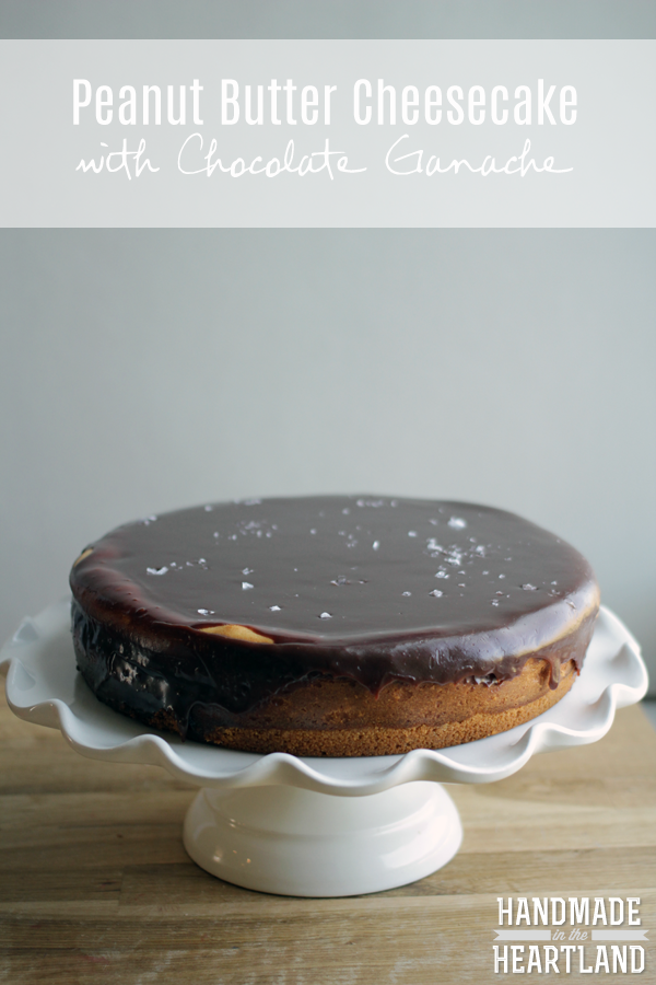 Peanut Butter Cheesecake with Chocolate Ganache