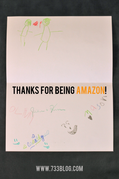 """Thanks for being AMAZON!"" Printable Coloring Birthday Card for Dad or Grandpa"