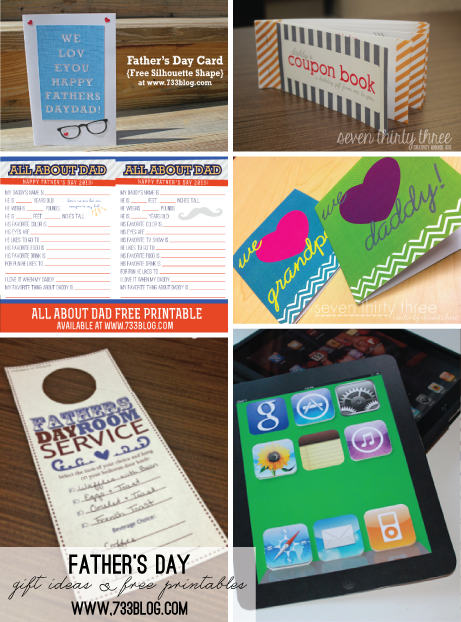 Father's Day Gift Ideas & Free Printables
