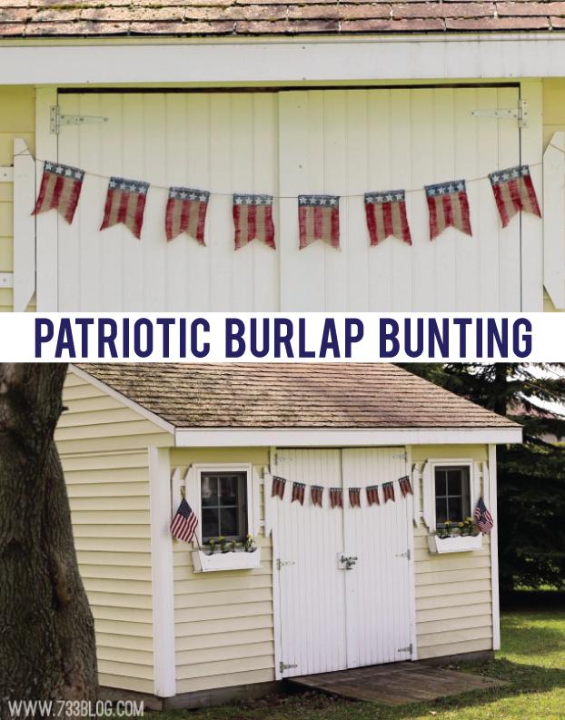 DIY Patriotic Burlap Bunting