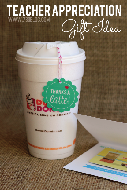 Coffee Lover's Teacher Gift Idea