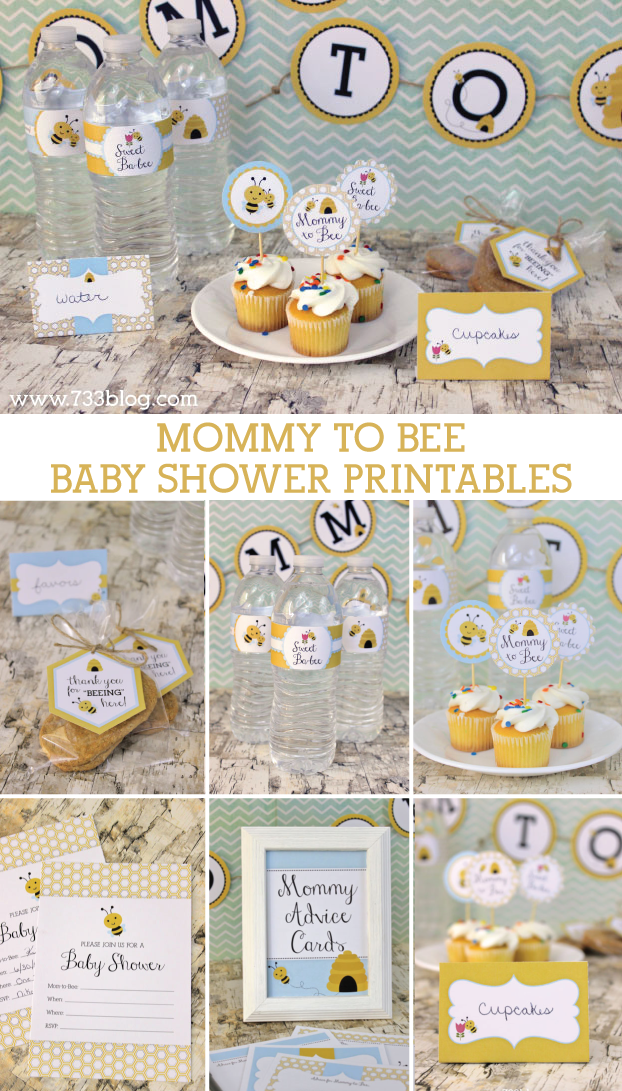 Mommy to Bee Baby Shower Printables