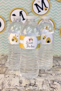 Mommy to Bee Water Bottle Labels
